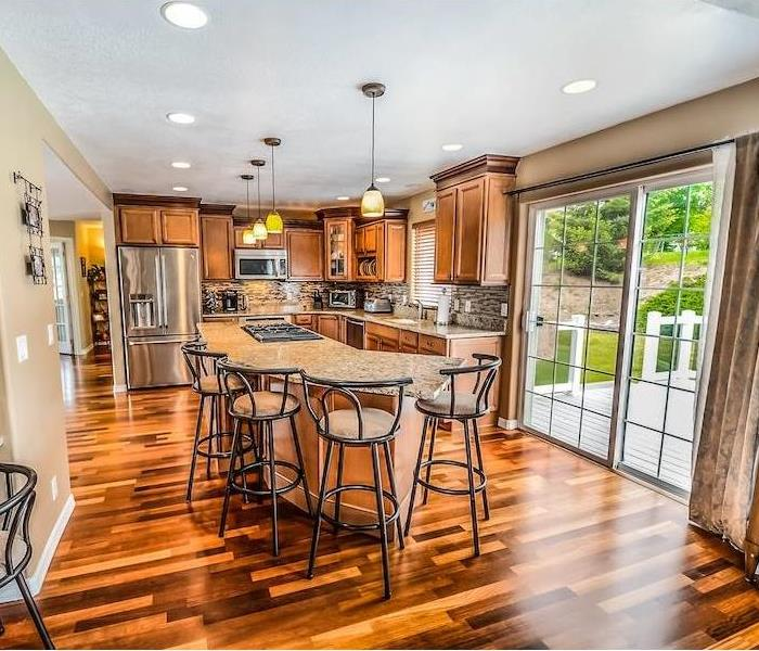 Kitchen with hardwood floors