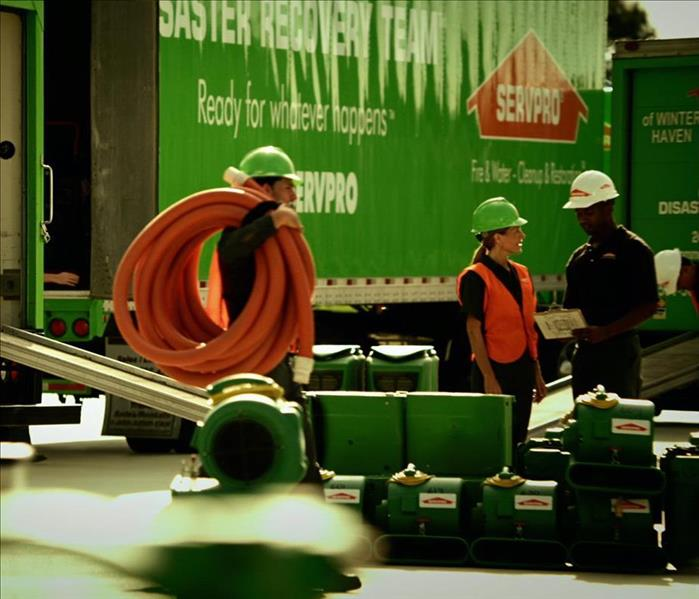 SERVPRO Equipment and technicians