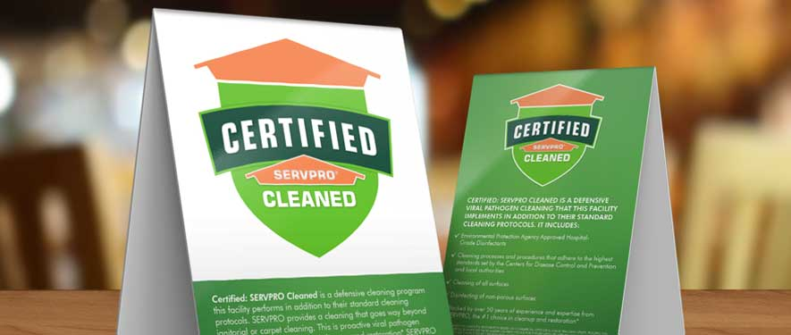 certified servpro cleaned program for coronavirus